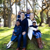 Interracial adoptive family
